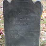 Ebenezer Tinney's tombstone in Grafton, Vermont (Courtesy of James Bianco)