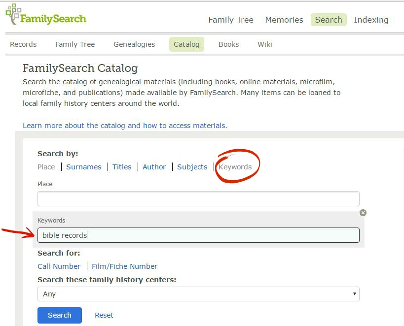 Family Bible records - familysearch 2