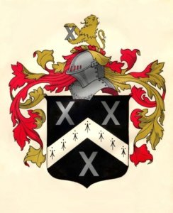 The coat-of-arms of Rev. John Greenwood, rector of Brampton, Norfolk County, England, from 1620 to 1663. According to English laws of heraldry, armorial bearings are the property of an individual, not everyone with the same last name.
