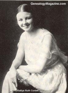 CORLETT, Mattye Ruth