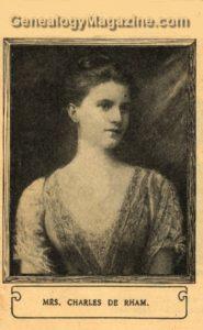 DE RHAM, Charles Mrs