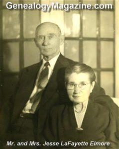 ELMORE, Jesse L and Mary E Elza