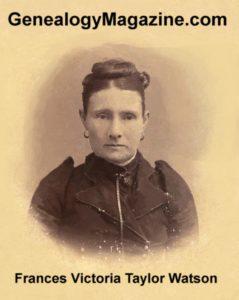 WATSON, Frances Victoria Taylor