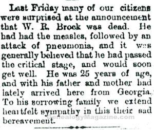 BROCK, W R obituary