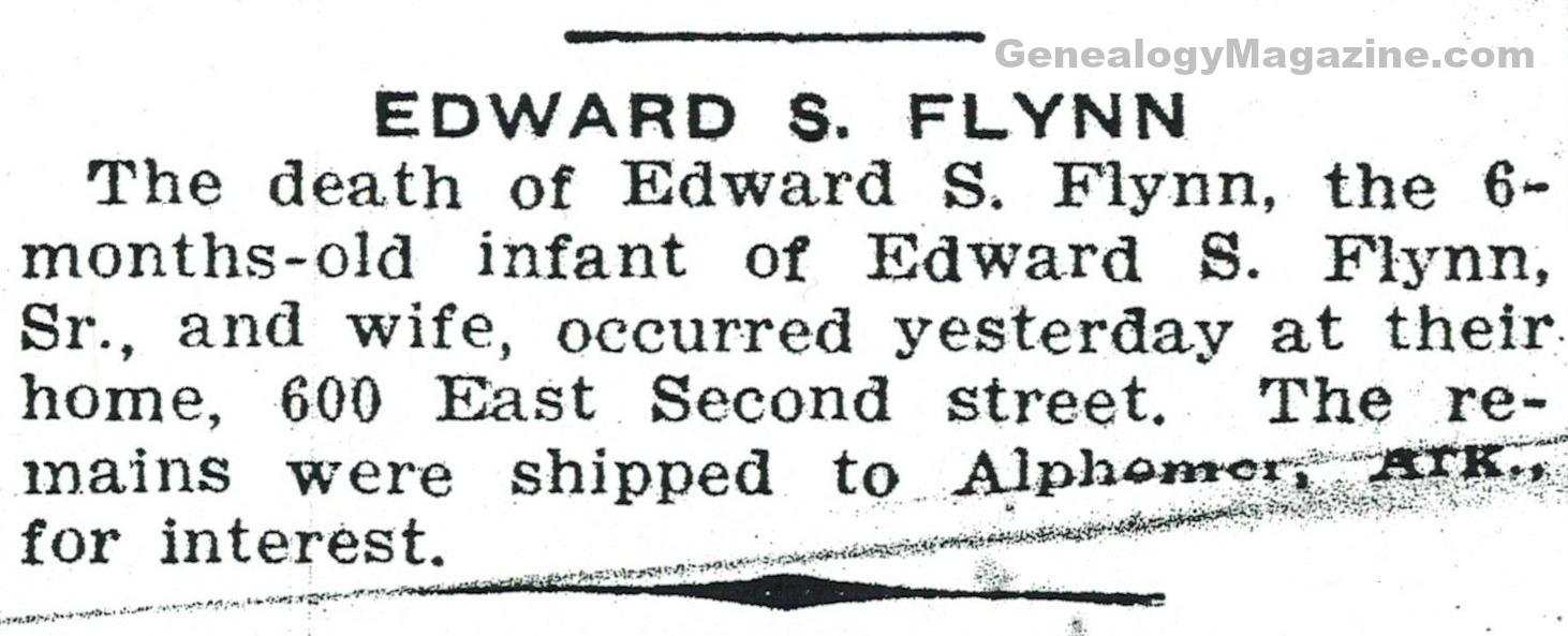 FLYNN, Edward S obituary