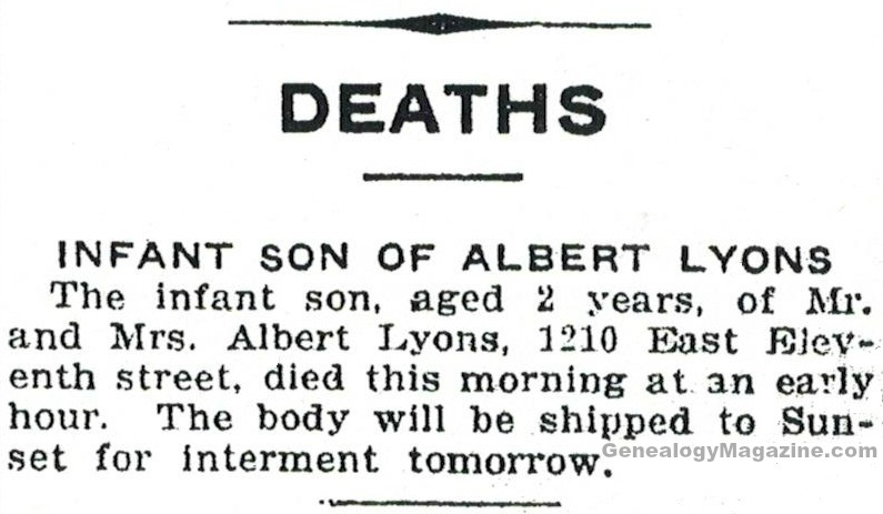LYONS, Albert obituary 2