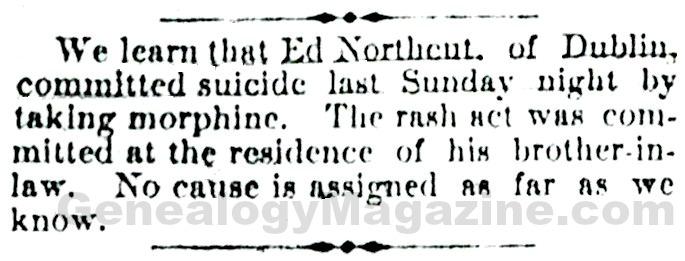 NORTHCUT, Ed obituary
