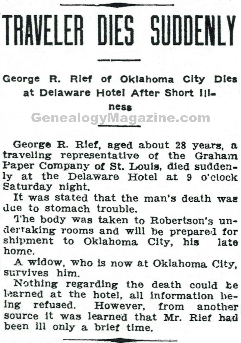 RIEF, George R obituary 2