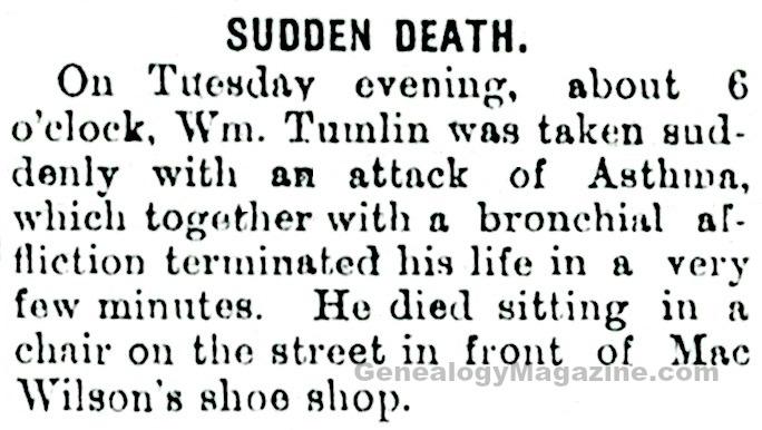 TUMLIN, William obituary
