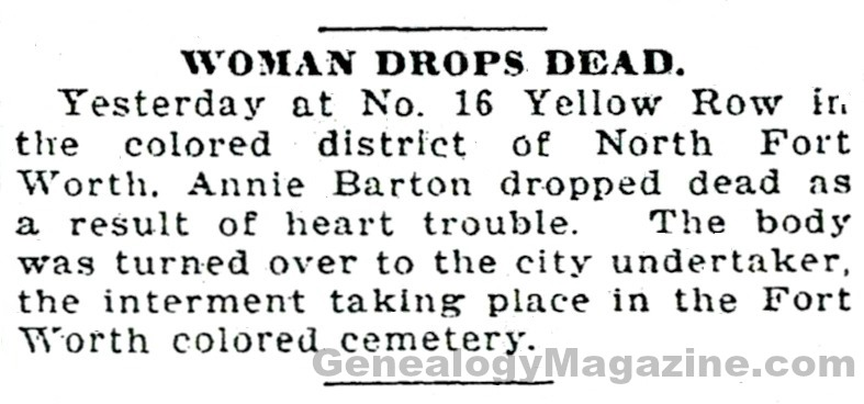 Annie Barton obituary
