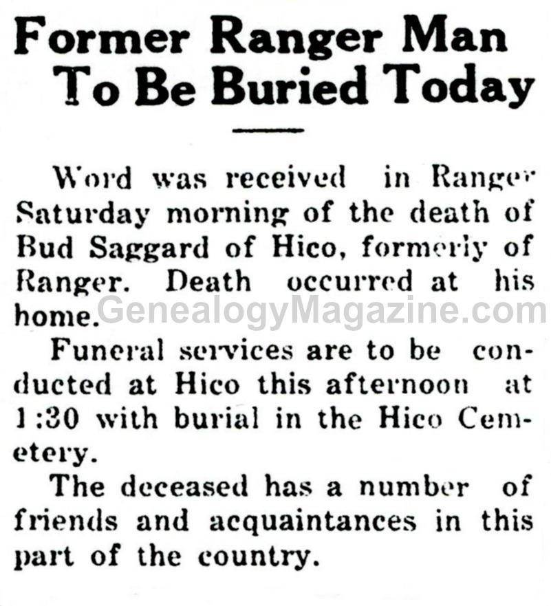 SAGGARD, Bud obituary