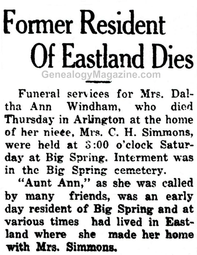 Daltha Ann Windham obituary