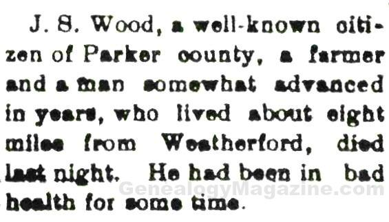 J S Wood obituary